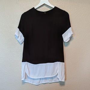 H &M black size 6 blouse